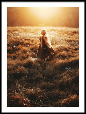 Buy this art print titled Sunset In the Meadow by the artist Suzuhiko Suzuki
