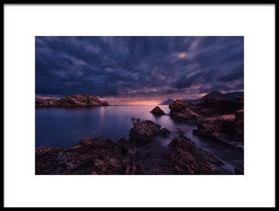 Art print titled Sunset On the Beach Lastre, MurciaSpain by the artist Jose Antonio Triviño Sanchez