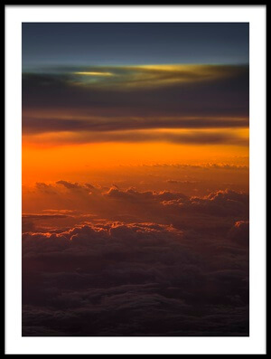 Art print titled Sunset Over Sky by the artist David D