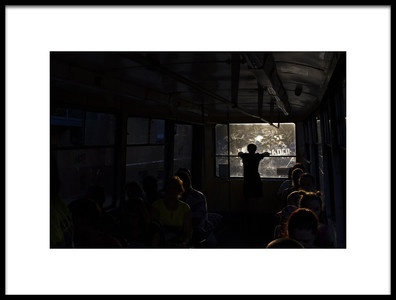 Art print titled Sunset Train by the artist Konstantin Tsokur