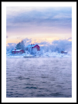 Art print titled Suomenlinna Island and the Fog by the artist marcobesso