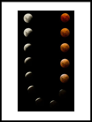 Buy this art print titled Super, Eclipse, Blood Red Moon by the artist David williams