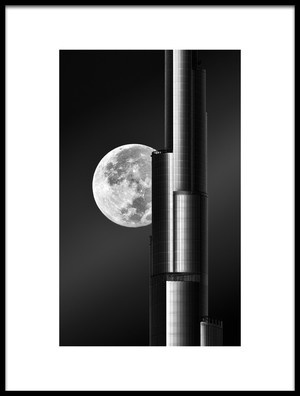 Art print titled Super Moon Burjkhalifa by the artist zohaib anjum