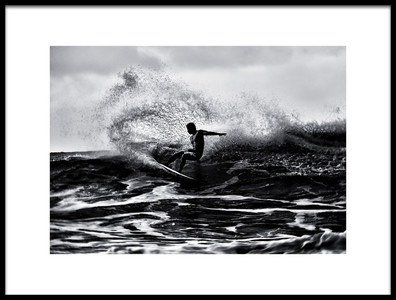 Art print titled Surf at Hawaii by the artist Yu Cheng