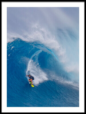 Buy this art print titled Surfing Jaws by the artist Peter Stahl