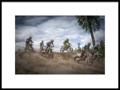 Art print titled Swedish Championships In Motocross 2016 by the artist Benny Pettersson