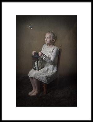 Art print titled Sweet Little Girl by the artist Carola Kayen-Mouthaan