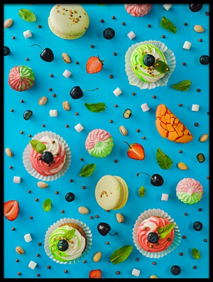 Buy this art print titled Sweet Pattern: Cupcake by the artist Dina Belenko
