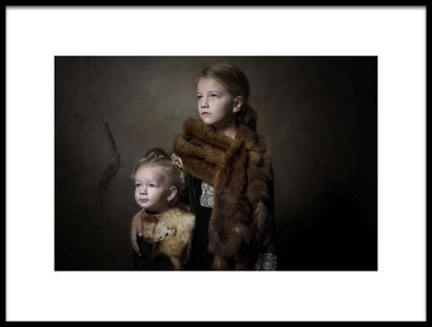 Art print titled Sweet Sisters by the artist Carola Kayen-Mouthaan