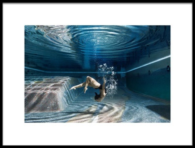 Buy this art print titled Swimming Inside by the artist Guido Fuà