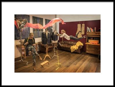 Art print titled Tailors by the artist Mirco Dalla Lana