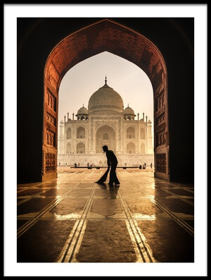 Buy this art print titled Taj Mahal Cleaner by the artist Pavol Stranak