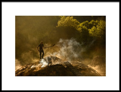 Buy this art print titled Taming the Fire by the artist Lucian Constantin