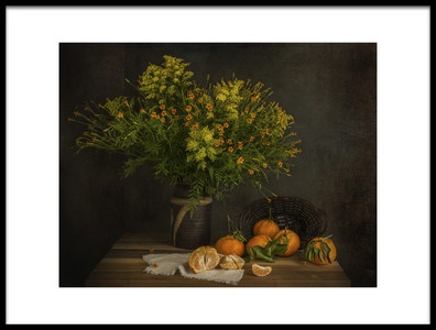 Buy this art print titled Tangerines by the artist Margareth Perfoncio