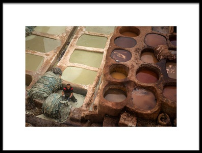 Art print titled Tannery of Fes by the artist Radu Dumitrescu
