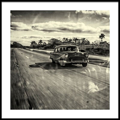Art print titled Taxi Havana by the artist Marc Limbach