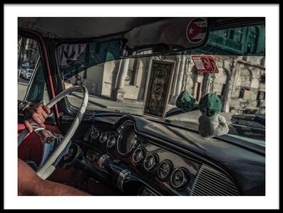 Art print titled Taxidriver by the artist Andreas Bauer