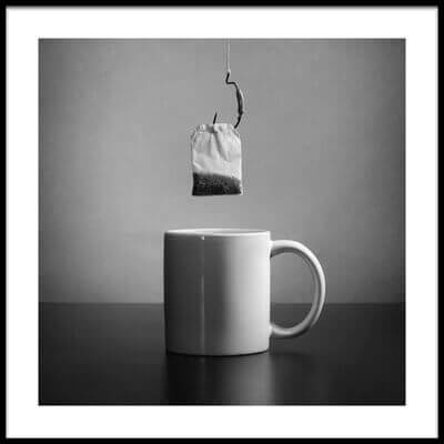 Art print titled Tea Bag by the artist Victoria Ivanova