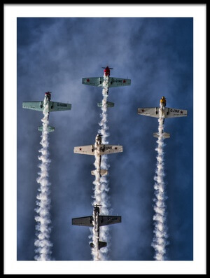 Buy this art print titled The Aerostars by the artist Knut Saglien