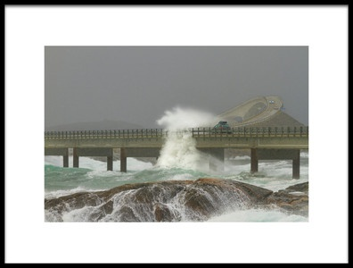 Art print titled The Atlantic Ocean Road by the artist Christer Olsen