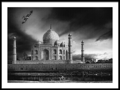Art print titled The Banks of the Jamuna River by the artist Piet Flour