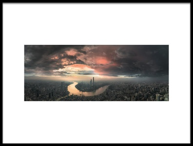Art print titled The Bay by the artist Stan Huang