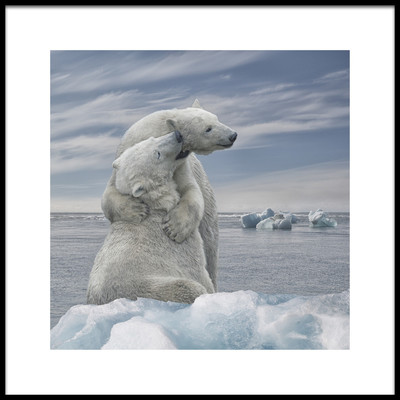 Art print titled The Big Hug by the artist René Heylen