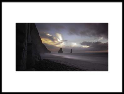 Art print titled The Black  Sand Beach by the artist Rolando Felizola