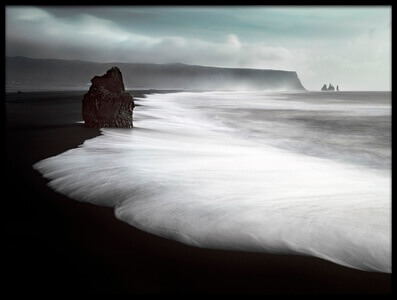 Art print titled The Black Beach by the artist Liloni Luca