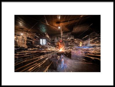 Art print titled The Blacksmith by the artist Radu Dumitrescu