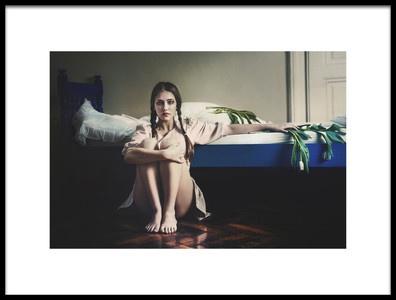 Art print titled The Blue Bed by the artist Bettina Tautzenberger
