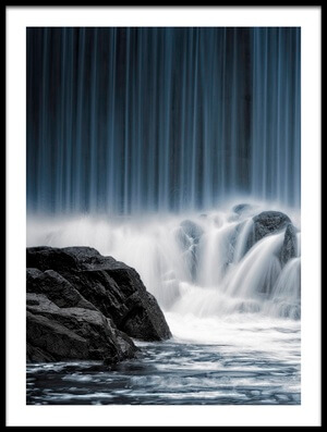 Buy this art print titled The Blue Curtain by the artist Keijo Savolainen
