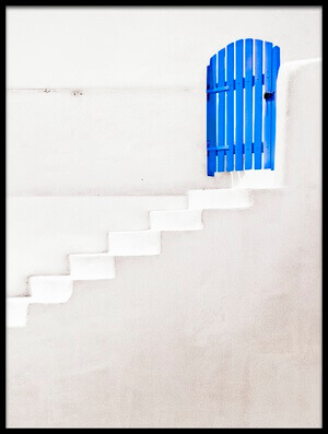 Art print titled The Blue Gate by the artist Linda Wride