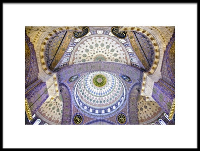 Buy this art print titled The Blue Mosque  the Sultan Ahmed Mosque Columns and Main Domes Istanbul Turkey  Nora De Ang by the artist Nora De Angelli