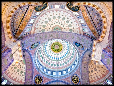 Buy this art print titled The Blue Mosque – the Sultan Ahmed Mosque Columns and Main Domes Istanbul Turkey © Nora De Ang by the artist Nora De Angelli
