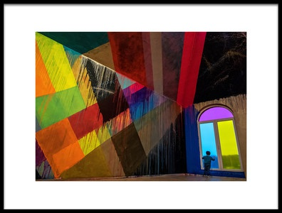 Art print titled The Blue View by the artist Lus Joosten
