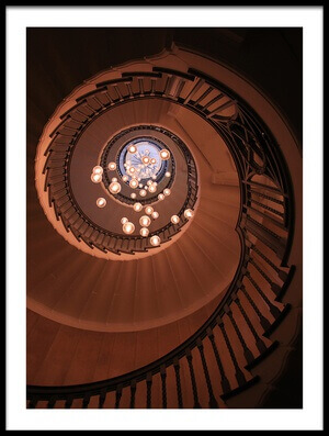 Art print titled The Brewer Staircase by the artist Ursula Rodgers