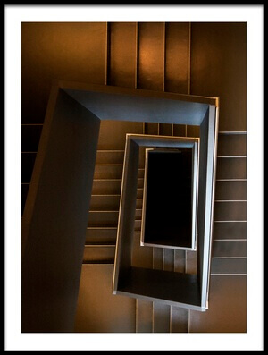 Art print titled The Brown Sugar Staircase by the artist Gerard Jonkman