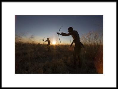 Art print titled The Bushmen Hunters by the artist Goran Jovic