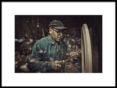 Art print titled The Carpenter by the artist Mahmoud Fayed