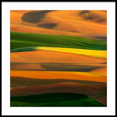 Art print titled The Colorful Land by the artist Phillip Chang
