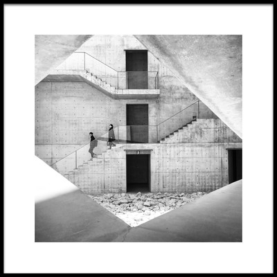 Art print titled The Concrete Staircase by the artist Lorenzo Grifantini