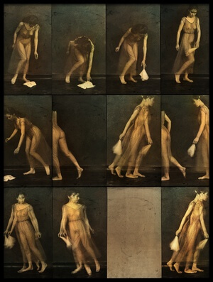 Art print titled The Correspondence of a Photographer Playing With Muybridge by the artist Fuyuki Hattori
