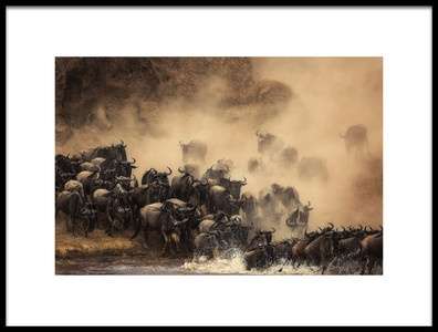 Art print titled The Crossing by the artist Waheed AlFazari
