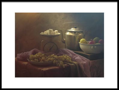 Art print titled The Cube Sugar and Fruits by the artist UstinaGreen