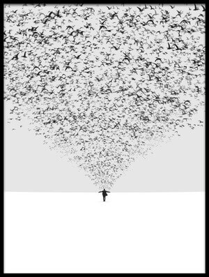 Buy this art print titled The Dark Half by the artist Hossein Zare