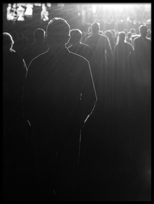 Art print titled The Dark Silhouette by the artist Razvan Lazarescu