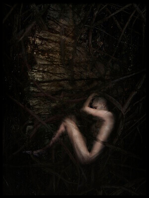 Art print titled The Deepest and Darkest by the artist Andrea Domjan