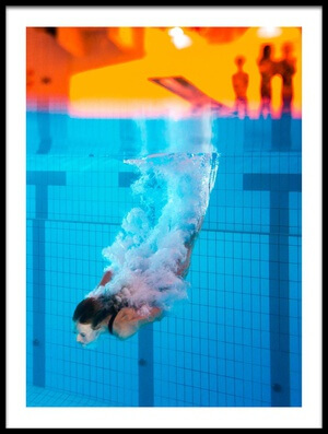 Buy this art print titled The Diver by the artist Ole Walter Sundlo