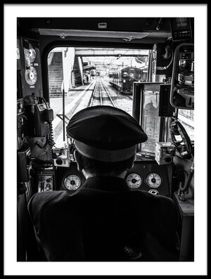 Art print titled The Driver by the artist Marco Tagliarino
